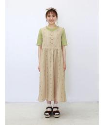 ワンピース ジャンパースカート 花ストライプジャンスカ|ZOZOTOWN PayPayモール店