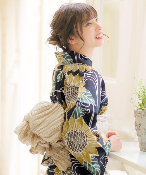 和装 帯色を変えたい方にもおすすめ ゆかた姿を引き立てる マーケティング しわ兵児帯 浴衣 選べる40色 至高 帯 K