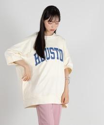 tシャツ Tシャツ ビッグシルエット カレッジプリント ハイウェイトミニ裏毛Tee|ZOZOTOWN PayPayモール店