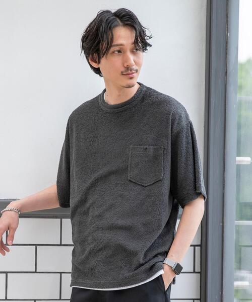 NEW 早割クーポン tシャツ Tシャツ パイルリラックスポケットTシャツ