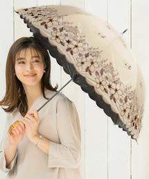 傘 完全遮光 晴雨兼用プリント&刺繍ショート傘 花レース柄 ZOZOTOWN PayPayモール店