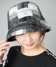帽子 ハット Boa check bucket hat / ボアチェックバゲットハット|ZOZOTOWN PayPayモール店