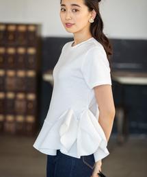 tシャツ Tシャツ アシンメトリーフレア半袖カットソー|ZOZOTOWN PayPayモール店