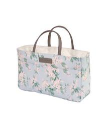 トートバッグ バッグ LAURA ASHLEY (ローラアシュレイ) Bag in bag Apple blossom white バッグインバッグ|ZOZOTOWN PayPayモール店