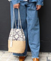 ショルダーバッグ バッグ MARCO MASI / 2836PA-SLANG / ラフィアパイソンコンビ巾着バッグ|ZOZOTOWN PayPayモール店