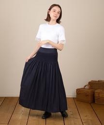 スカート ハンドスモッキングスカート|ZOZOTOWN PayPayモール店