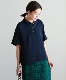 シャツ ブラウス エスパンディクレープ ポロカラーシャツ|ZOZOTOWN PayPayモール店