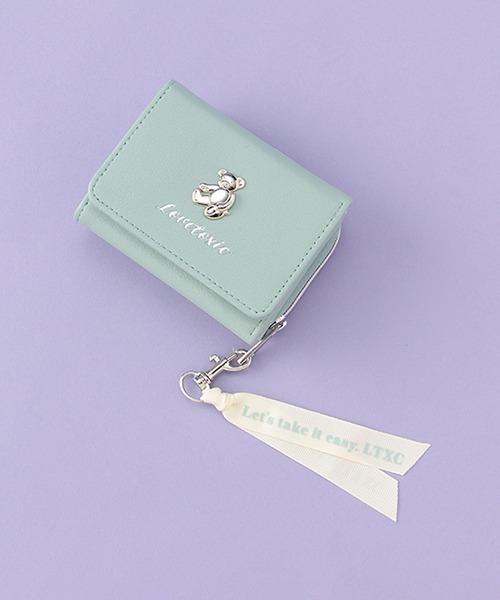 財布 クマプレートリボン3つ折り財布 結婚祝い 大幅値下げランキング