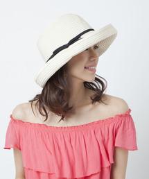 帽子 ハット カブロカムリエ UVハット CC RIBOBURE KURO 帽子 レディース|ZOZOTOWN PayPayモール店