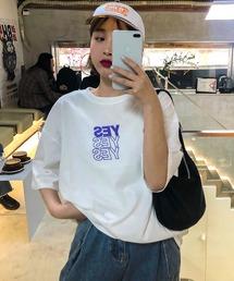 tシャツ Tシャツ YESレタープリント 半袖Tシャツ 英字プリントロゴT|ZOZOTOWN PayPayモール店