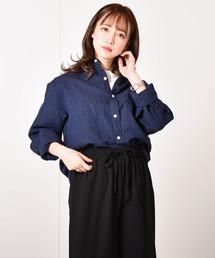 シャツ ブラウス フレンチリネン 麻100%長袖シャツ|ZOZOTOWN PayPayモール店