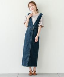 サロペット オーバーオール フロントボタンジャンパースカート|ZOZOTOWN PayPayモール店
