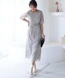 ドレス 結婚式ワンピースドレススカラップ袖あり&ミモレ丈大きいサイズフォーマル|ZOZOTOWN PayPayモール店