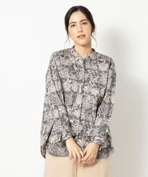 シャツ ブラウス LIBERTY PRINTスタンドカラーシャツ|ZOZOTOWN PayPayモール店