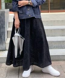 スカート カットワークレースギャザースカート|ZOZOTOWN PayPayモール店