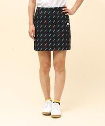 スカート 【撥水】モノグラム柄プリントAラインスカート|ZOZOTOWN PayPayモール店