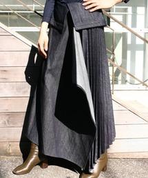 スカート EZUMi(エズミ)プリーツコンビデニムスカート / メーカー品番:YEAW20SK03|ZOZOTOWN PayPayモール店