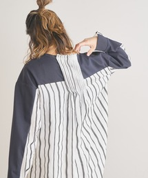 tシャツ Tシャツ カットソー×ストライプシャツドッキングトップス|ZOZOTOWN PayPayモール店