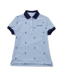 ポロシャツ ストライプフラミンゴ柄 スキッパーポロ|ZOZOTOWN PayPayモール店
