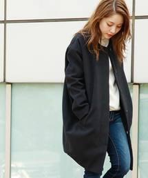 ジャケット ノーカラージャケット DETAILS women/ノーカラーコクーンコート|ZOZOTOWN PayPayモール店