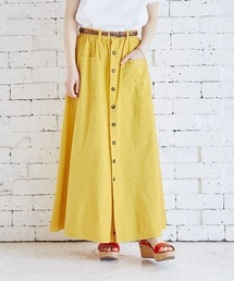 スカート Lee リー / PATCH POCKET SKIRT パッチポケット  フロントボタンフレアマキシスカート / LL6036|ZOZOTOWN PayPayモール店