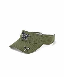 帽子 キャップ <WOMEN>BEAMS GOLF ORANGE LABEL / パンチング スクリプト サンバイザー ZOZOTOWN PayPayモール店