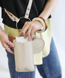 ショルダーバッグ バッグ 異素材フェイクレザーリングミニショルダーバッグセット|ZOZOTOWN PayPayモール店