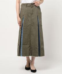 スカート チラ見えデニムのリメイクスカート|ZOZOTOWN PayPayモール店