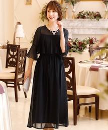 ドレス 結婚式ワンピースドレスシアーミモレ丈&七分袖大きいサイズフォーマル|ZOZOTOWN PayPayモール店