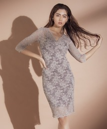 ドレス ジャージーレースVネックドレス ZOZOTOWN PayPayモール店