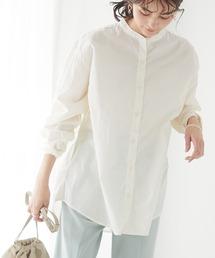 シャツ ブラウス 綿ブロードバンドカラーシャツ *|ZOZOTOWN PayPayモール店