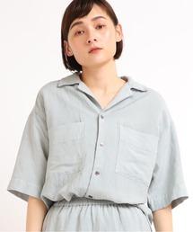 tシャツ Tシャツ B2634 リネンレーヨン開襟シャツ|ZOZOTOWN PayPayモール店