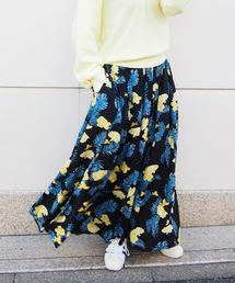 スカート リゾートフラワーロングフレアスカート|ZOZOTOWN PayPayモール店