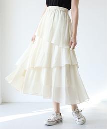 スカート 3段ティアードスカート|ZOZOTOWN PayPayモール店