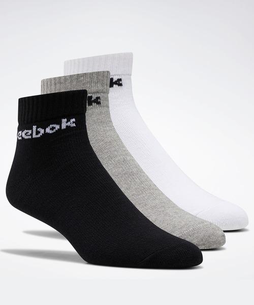 靴下 アクティブ コア アンクル ソックス 3足組 [Active Core Ankle Socks 3 Pairs] リーボック