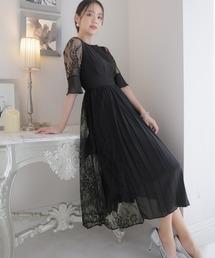 ドレス アシンメトリープリーツ&レースドレス|ZOZOTOWN PayPayモール店