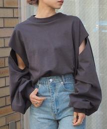 tシャツ Tシャツ 【web限定アイテム】2021SS スリットデザインモックネックロンT|ZOZOTOWN PayPayモール店