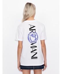 tシャツ Tシャツ 【A|X アルマーニ エクスチェンジ】バックロゴスマイルデザイン 半袖クルーネックTシャツ/ROLLED UP|ZOZOTOWN PayPayモール店