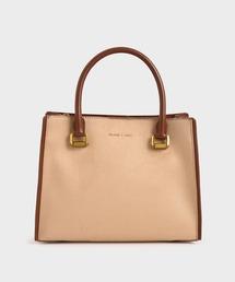ショルダーバッグ バッグ ラージテクスチャード ダブルハンドルバッグ / Large Textured Double Handle Bag|ZOZOTOWN PayPayモール店