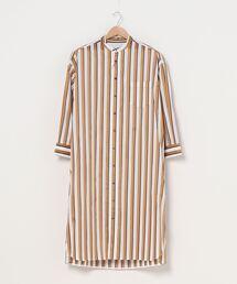 ワンピース シャツワンピース TICCA / TBKA-184/ノーカラースクエアビッグロングシャツ|ZOZOTOWN PayPayモール店
