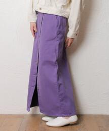 スカート デニム Lee リー / BUTTON SLIT SKIRT ボタンスリットフロントボタンスカート / LL6069|ZOZOTOWN PayPayモール店
