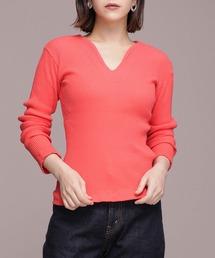 tシャツ Tシャツ YOUNG & OLSEN The DRYGOODS STORE/ZINC RIB SLIT NECK LS ZOZOTOWN PayPayモール店