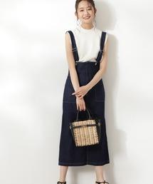 スカート デニム 【追加生産】◆ハイウエストデニムジャンパースカート|ZOZOTOWN PayPayモール店