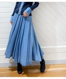 スカート 【MoNiLE/モニーレ】ソフトデニムフレアースカート|ZOZOTOWN PayPayモール店
