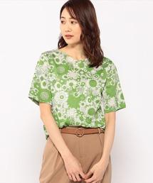 tシャツ Tシャツ リバティプリントVネックプルオーバー|ZOZOTOWN PayPayモール店