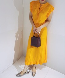 ワンピース BY MALENE BIRGER オレンジ フロントリボン ドレス|ZOZOTOWN PayPayモール店