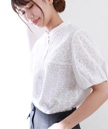 シャツ ブラウス 《追加2》コットンローンアイレットシャツ【手洗い可能】◆|ZOZOTOWN PayPayモール店