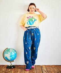 パンツ デニム ジーンズ フラワーフレンズ刺繍デニムパンツ ZOZOTOWN PayPayモール店
