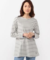 tシャツ Tシャツ オーガニックコットンボーダーチュニックカットソー|ZOZOTOWN PayPayモール店