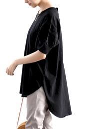tシャツ Tシャツ 綿100% ゆるっと、半袖バックヘンリーチュニック|ZOZOTOWN PayPayモール店